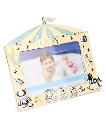 Archies Home Shape Photo Frame - Yellow Blue