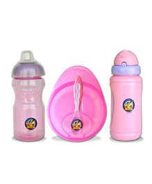 Beebop Snacktime Combo Pack of 3 - Pink