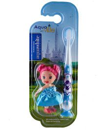 aquawhite Aqua Ville Ultra Soft Toothbrush With Doll Toy - Blue