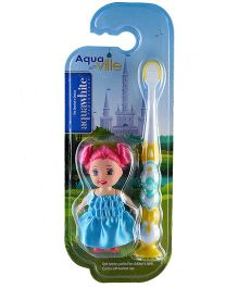 aquawhite Aqua Ville Ultra Soft Toothbrush With Doll Toy - Yellow