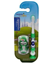 aquawhite Aqua Ville Ultra Soft Toothbrush With Car Toy - Green