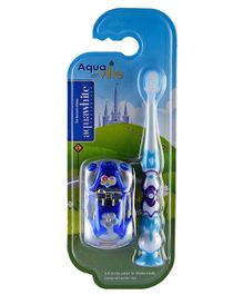 aquawhite Aqua Ville Ultra Soft Toothbrush With Car Toy - Blue