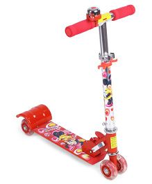 Disney 4 Wheel Scooter Minnie Mouse Print - Red