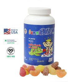 Gummiking Multi Vitamin & Mineral Gummies For Active Kids - 100 Gummies (Assorted)