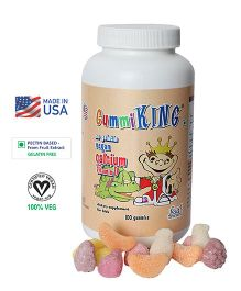 Gummiking Calcium With Vitamin D Gummies For Growing Kids - 100 Gummies (Assorted)