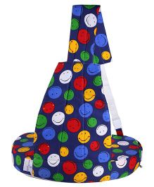 MomToBe Blue Nursing Feeding Pillow Smiley Print - Blue