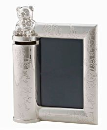 Crown Forever Frazer And Haws Photo Frame Cum Money Bank - Silver