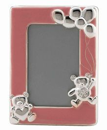 Crown Forever Frazer And Haws Photo Frame With Bear - Pink