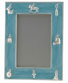 Crown Forever Frazer And Haws Rectangle Shape Photo Frame - Blue