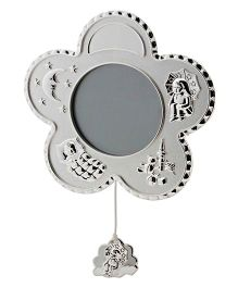 Crown Forever Frazer And Haws Baby Flower Shape Photo Frame - Silver