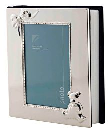 Crown Forever Frazer And Haws Baby Photo Album - Silver