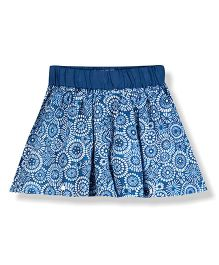 Young Birds Shorts With Skirt - Blue