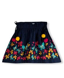 Young Birds Tuft Ball Rope Skirt - Navy