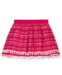 Young Birds Embellished Skirt - Pink