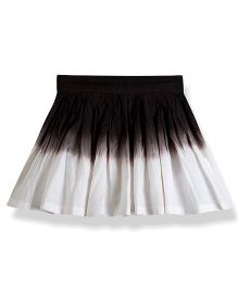 Young Birds Dual Shade Tennis Skirt - Black & White