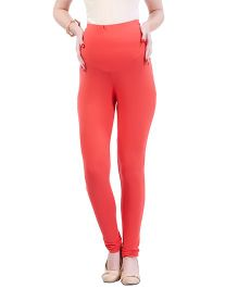 MomToBe Lycra Maternity Leggings - Peach