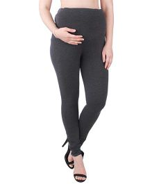 MomToBe Lycra Maternity Leggings - Grey