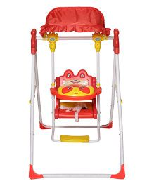 Dash Musical Deluxe Baby Garden Swing With Light - Red