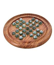 Desi Karigar Wooden Marbles Board Game - Brown