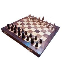 Desi Karigar Wooden Folding Chess Board Brown - 16 inches