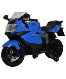 Bluday BMW Ride-On Bike 12V With Hand Racing - Blue