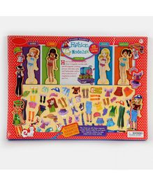 Emob Wooden Magnetic Doll Dress Up Game Multicolour - 63 Pieces