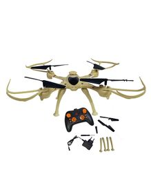 Emob Remote Control Quadcopter 6 Axis Gyro 360 Degree Toy - Beige