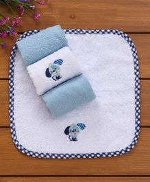 Owen Terry Wash Clothes Pack of 4 - Blue