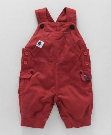 Little Kangaroos Solid Color Dungaree - Red