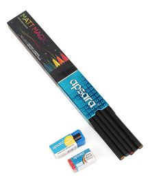 Apsara Mat Magic Pencils Pack Of 10 - Black