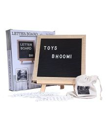 Toys Bhoomi Wooden Letter Board With 288 Letters & Symbols - Black