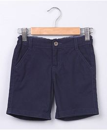Beebay Shorts With Turn-Up Ends - Navy Blue