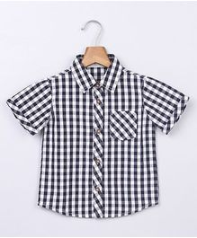 Beebay Gingham Shirt With Patch Pocket - Black