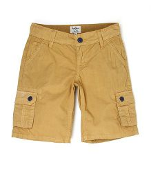 Pepe Jeans Cargo Style Solid Shorts - Brown