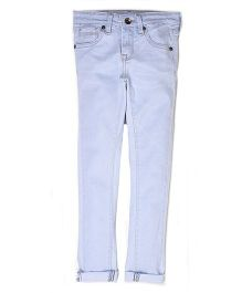 Pepe Jeans Solid Slim Fit Jeans - Light Blue