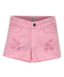 Pepe Jeans Flower Design Shorts - Pink