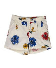 Pepe Jeans Floral Shorts - White