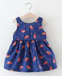 2 Footya Watermelon Print Dress - Blue