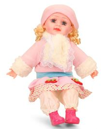 Smiles Creation Doll With Cap & Jacket Pink White - Height 52 cm