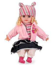 Smiles Creation Doll With cap & Jacket Pink - Height 52 cm