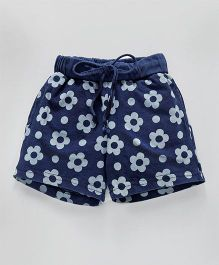 Olio Kids Shorts Floral Print - Navy