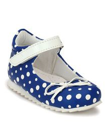 Tuskey Polka Party Wear Belly - Blue (2.5 to 3 Years)