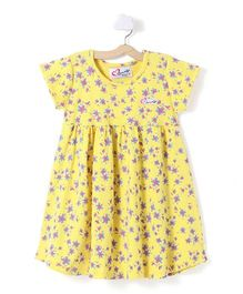 M'andy Flowers Design Dress - Yellow