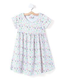 M'andy Tiny Flowers Print Dress - White