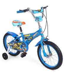 Hot Wheels Bicycle With Training Wheels Blue - 16 inches