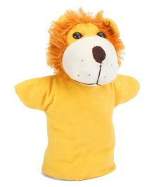 IR Lion Hand Puppet Yellow - Height 23 cm