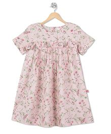 Budding Bees All Over Printed Dress - Pink
