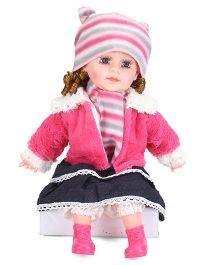Smiles Creation Doll With Jacket & Cap Pink - Height 52 cm