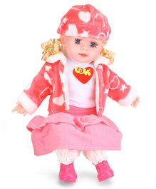 Smiles Creation Fashion Doll With Jacket & Cap Love Print - Height 53 cm
