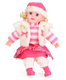 Smiles Creation Doll With Jacket & Cap Pink Cream - Height 53 cm